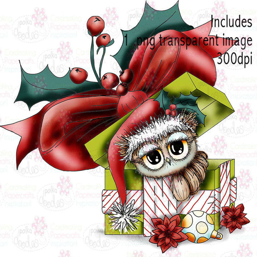 Christmas Gift - Twiggy & Toots - Digital Craft Stamp Download