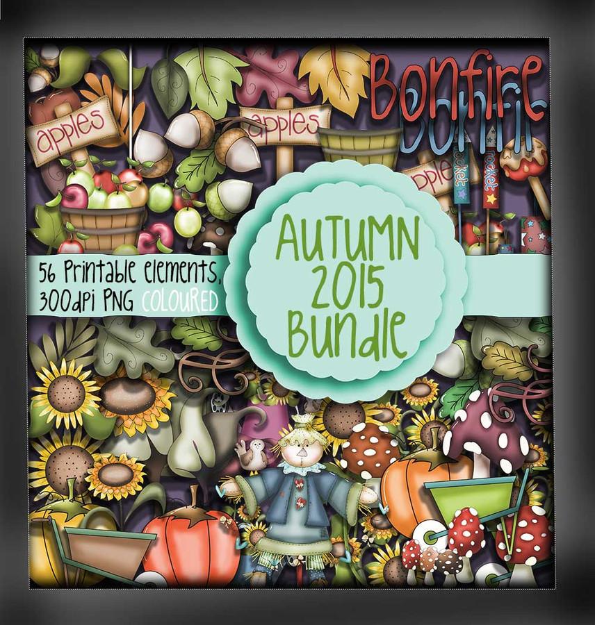 Autumn/Fall digi stamps - COLOUR - digital download bundle