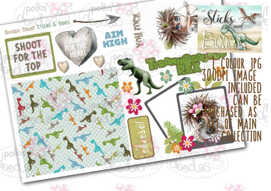 Sticks & Bones - Design Sheet 4  - Digital CRAFT Download