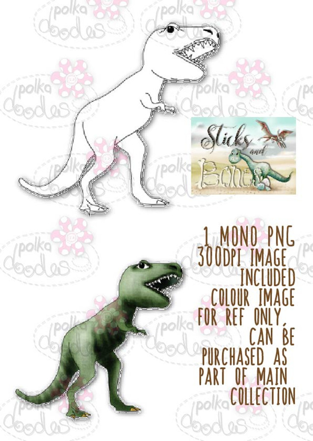Sticks & Bones - Dinosaur T Rex - Digital CRAFT Download