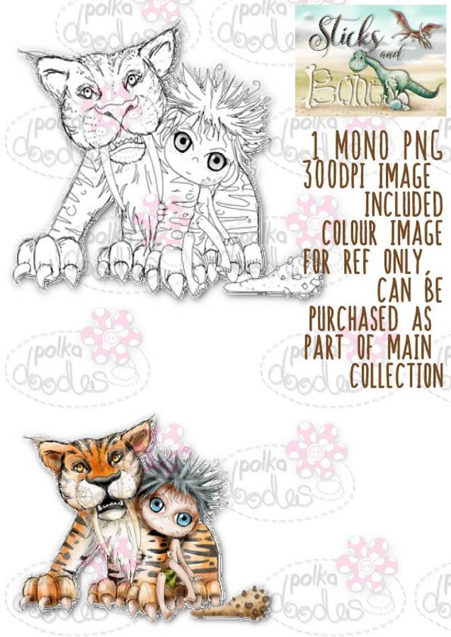 Sticks & Bones - Ferocious Friends/Dinosaur - Digital Stamp CRAFT Download