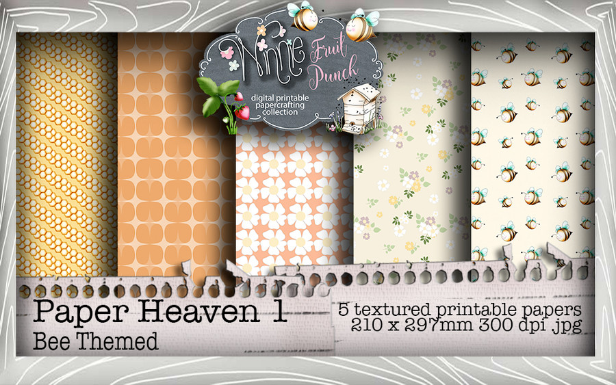 Winnie Fruit Punch Paper Heaven 1 Bundle - Printable Crafting Digital Stamp Craft Scrapbooking Download