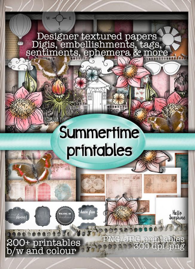 Summertime -  Downloadable Printable CD-rom