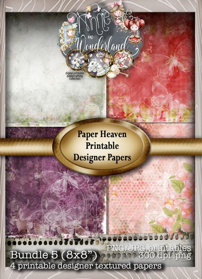 Winnie Wonderland Paper Heaven 5 - Printable Digital download