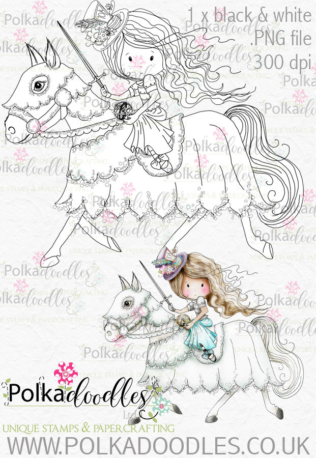 Winnie Wonderland Horse - Printable Digital stamp download
