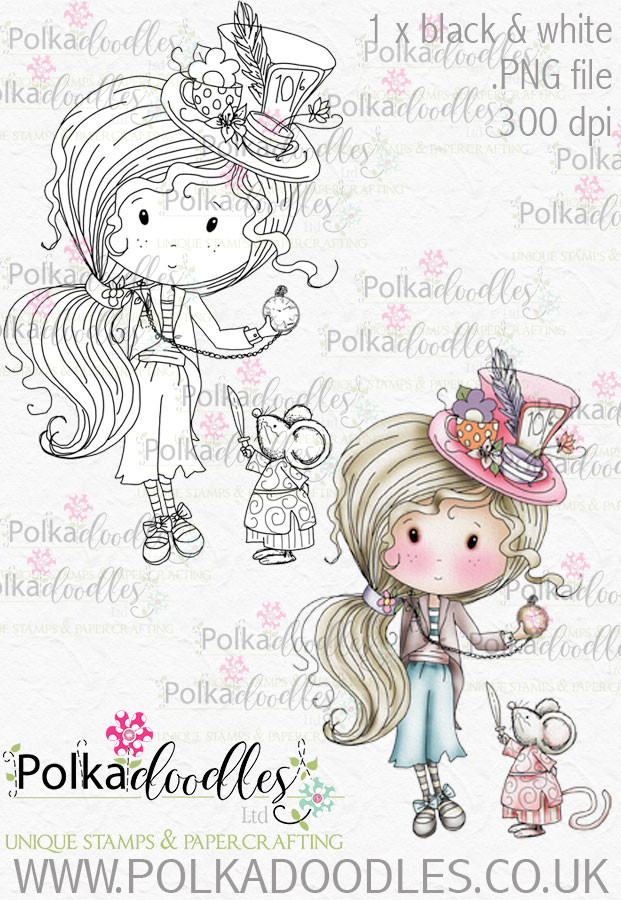 Winnie Wonderland Hello - Printable Digital stamp download