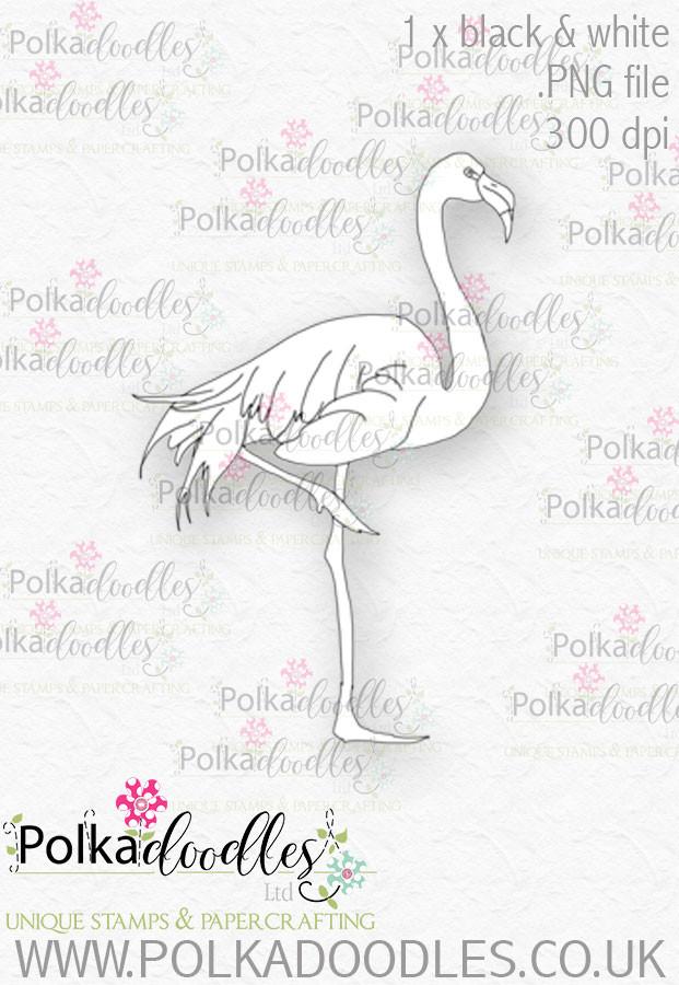 Winnie Wonderland Flamingo - Printable Digital stamp download