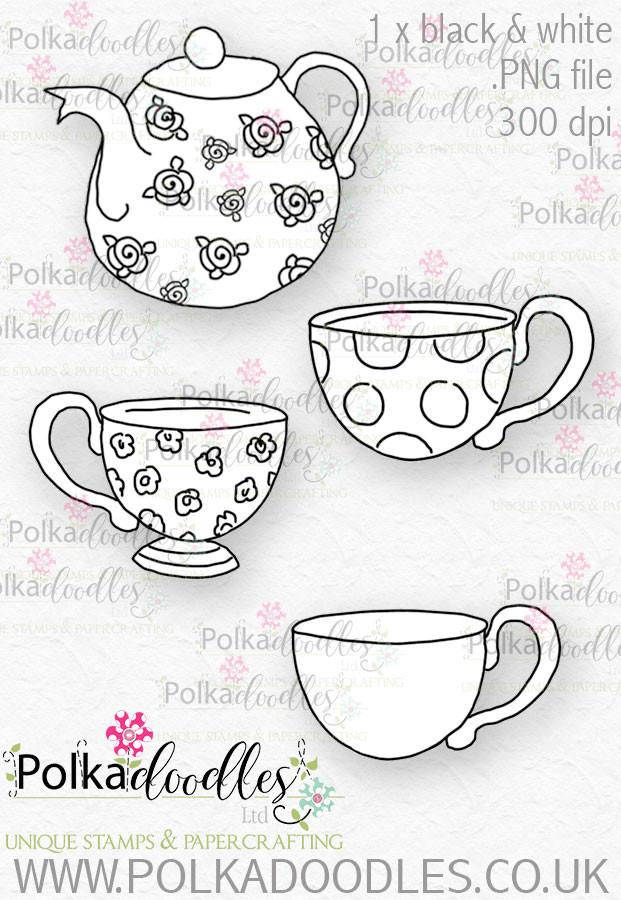 Winnie Wonderland Tea - Printable Digital stamp download
