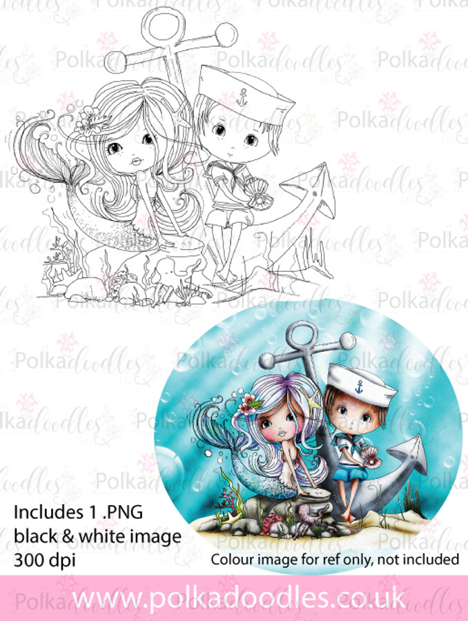 Meribelle Hello Sailor - digital craft stamp download