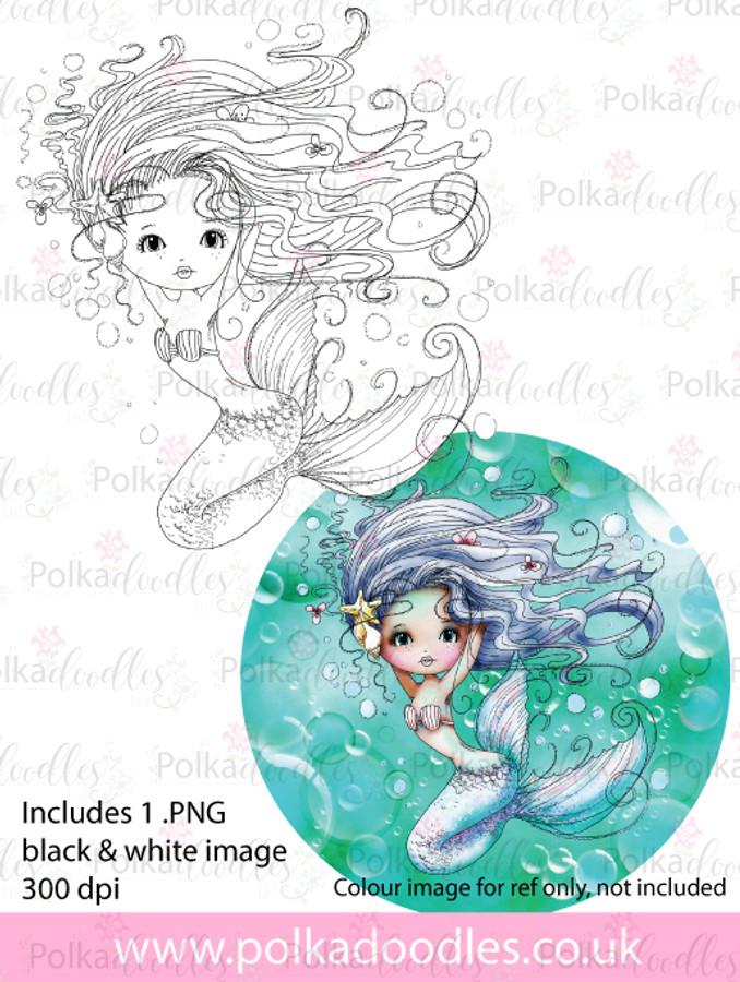 Meribelle Pretty - digital craft stamp download
