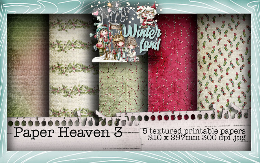 Winnie Winterland - Paper Heaven 3 digital craft papers download