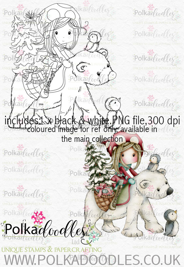Winnie Winterland - Polar Friends digital craft stamp download