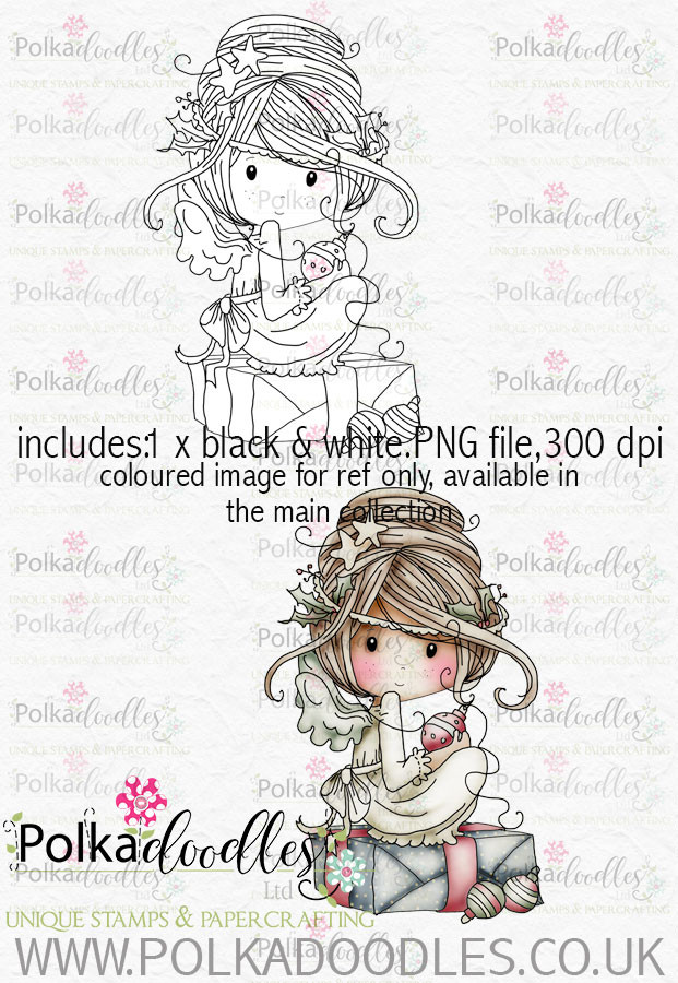 Winnie Winterland - Fairy Christmas digital craft stamp download
