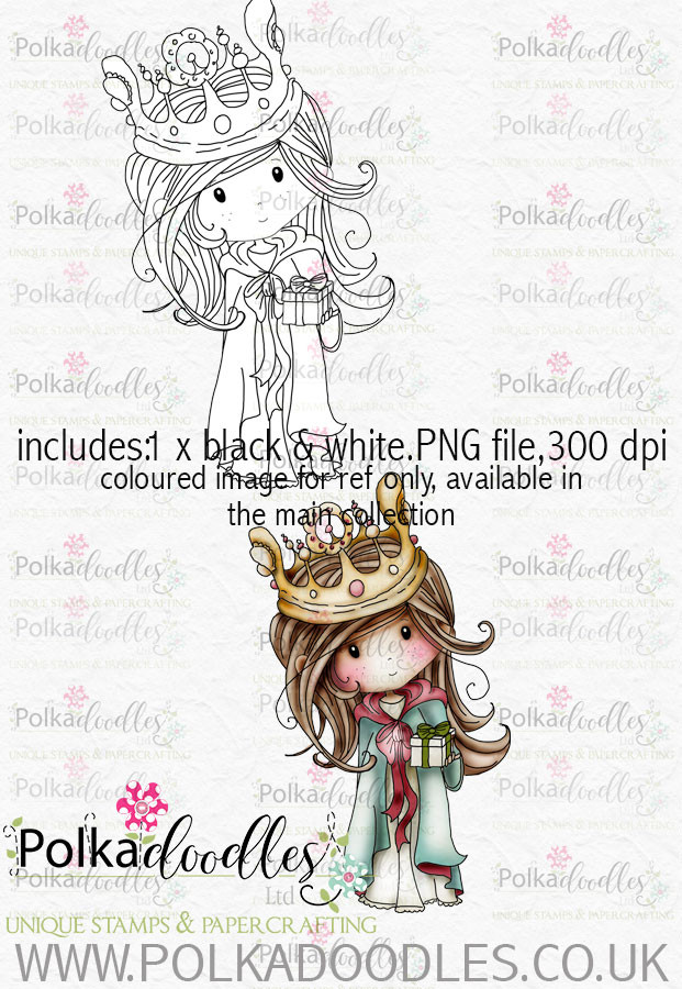 Winnie Winterland - Bearing Gifts digital craft stamp download