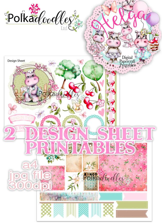 Helga Hippo - Design Sheet 6 Duo DOWNLOAD