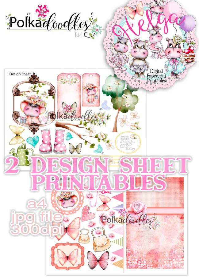 Helga Hippo - Design Sheet 7 Duo DOWNLOAD