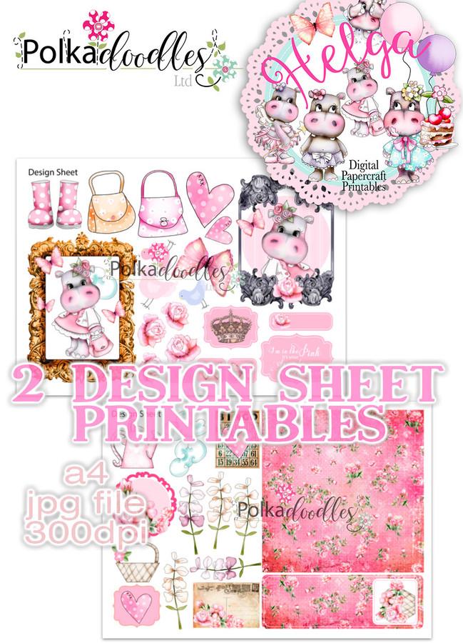 Helga Hippo - Design Sheet 10 Duo DOWNLOAD