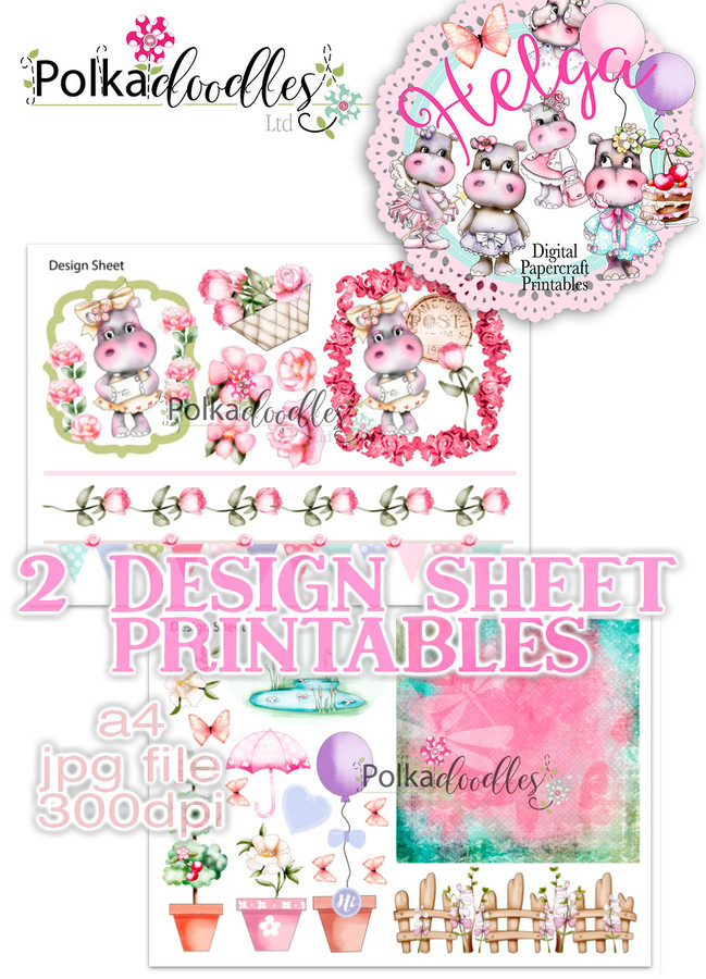 Helga Hippo - Design Sheet 11 Duo DOWNLOAD
