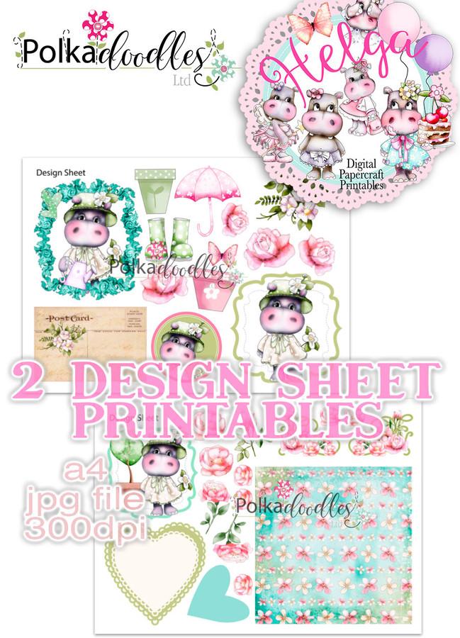 Helga Hippo - Design Sheet 13 Duo DOWNLOAD