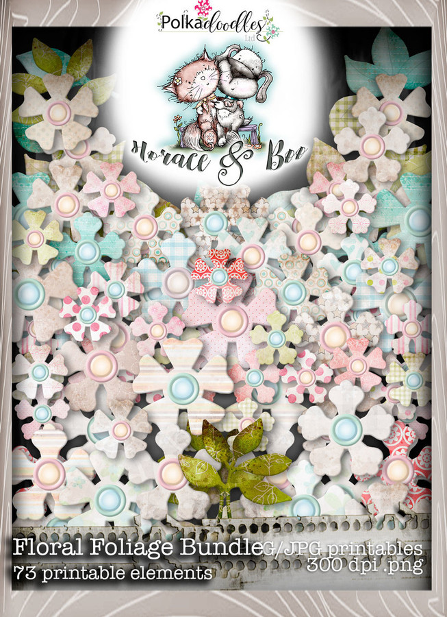 Floral Foliage - Horace & Boo download printable bundle
