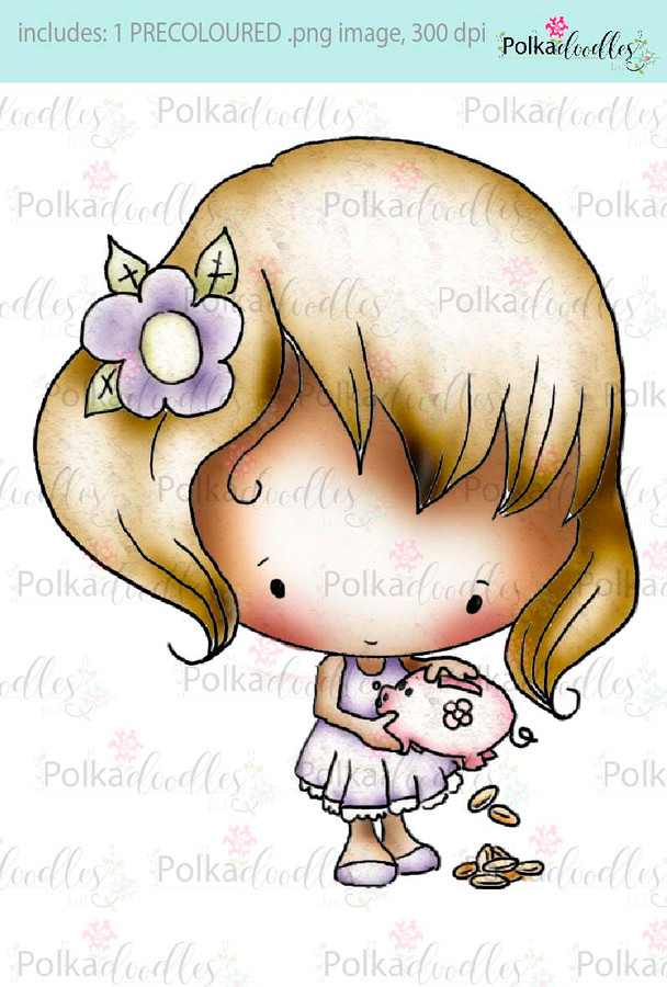 Lil Miss Moneybags - Sugarpops Kit 2...Craft printable download digital stamps/digi scrap kit