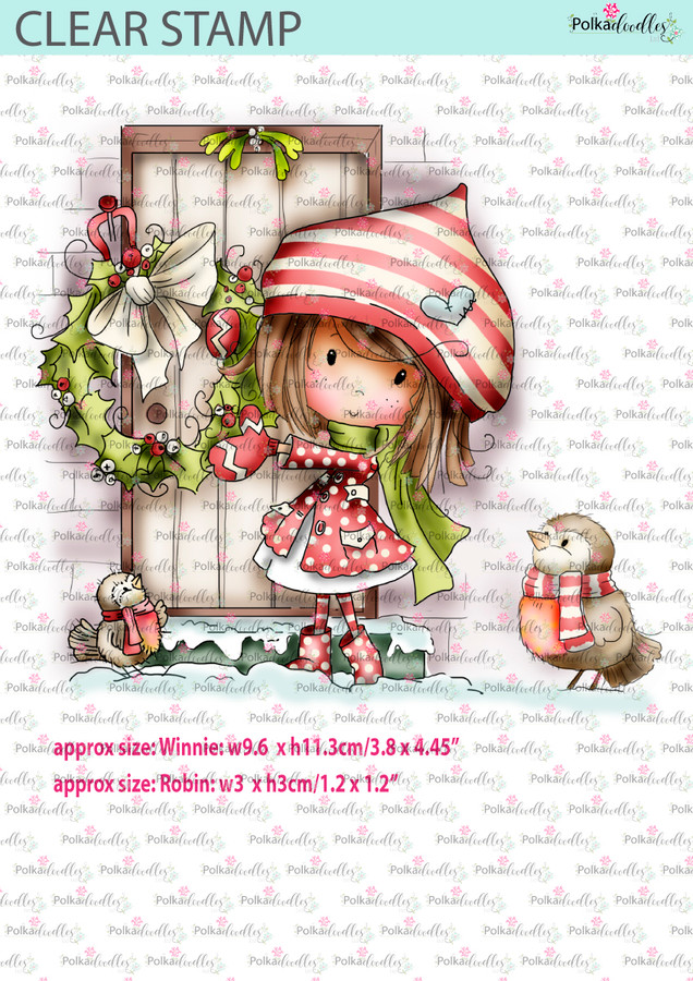 Winnie Christmas Wreath - Stamp of the Month August 2017