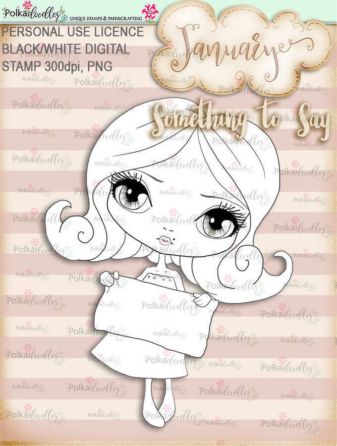 Something to Say - January, Life Journal digital stamp download