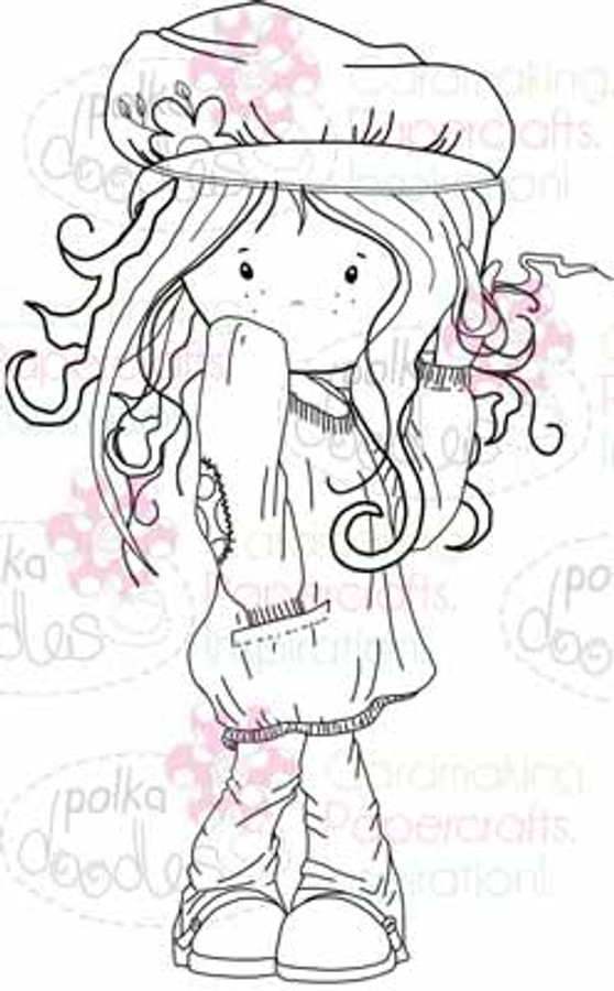 Maddie Twirling Curls digital stamp download