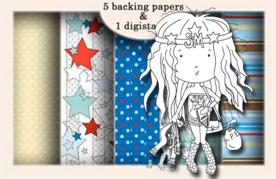 Ruth Supermum Digital stamp download