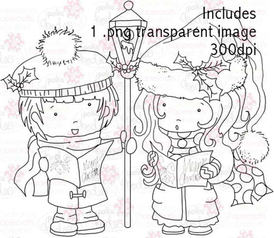 Hollybobs Choir digital stamp download