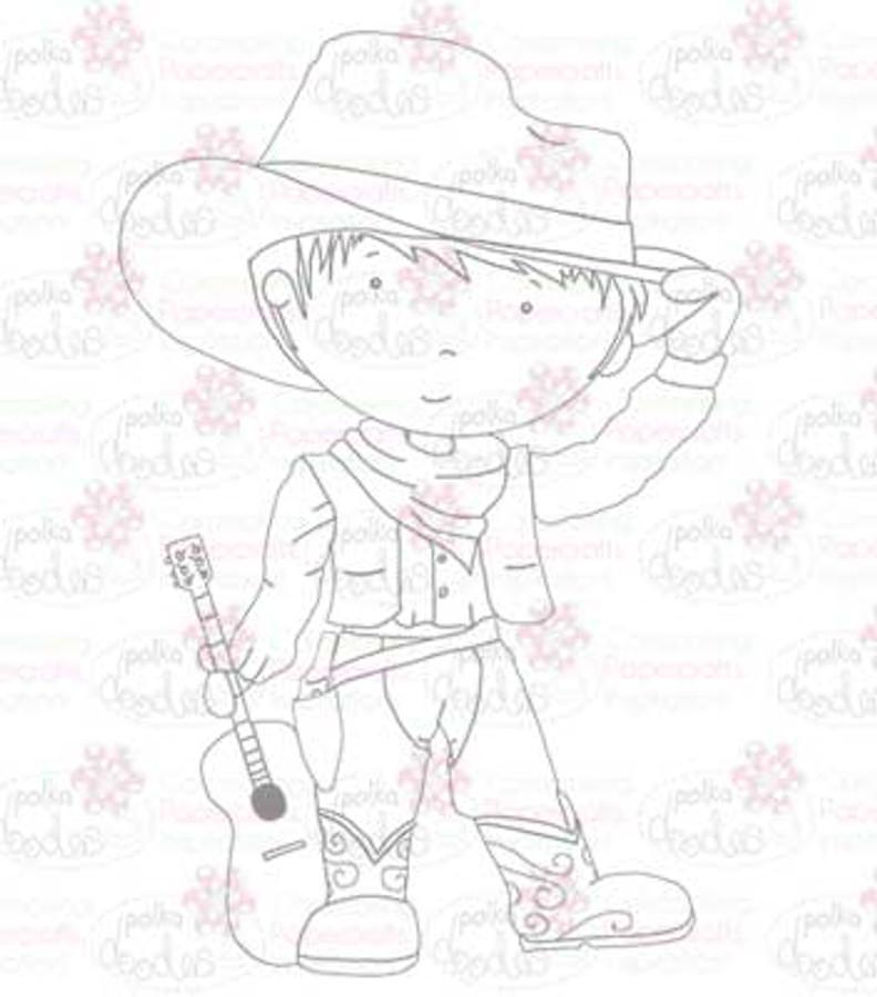 Cowboy digital stamp download
