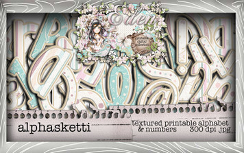 Eden Collection - Alphasketti Digital Craft Download Bundle