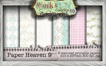 Work & Play 10 Collection - Paper Heaven 9 Digital Craft Download Bundle