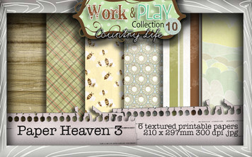 Work & Play 10 Collection - Paper Heaven 3 Digital Craft Download Bundle