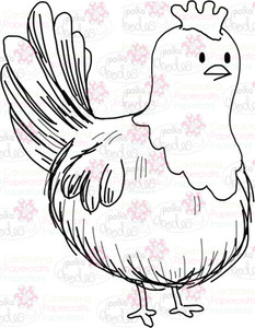 Hen/chicken Digital Stamp - Digital Craft Download