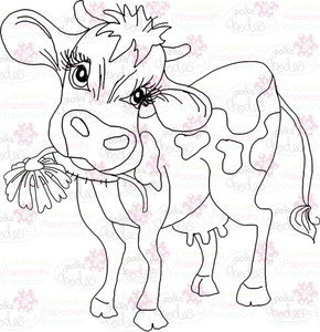 Cow Digital Stamp - Digital Craft Download