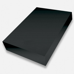 Black A4 smooth 225gsm cardstock