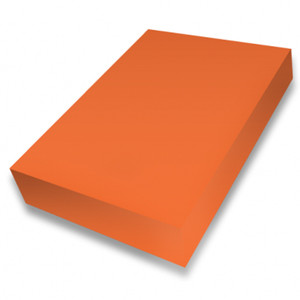 Orange A4 smooth 225gsm cardstock