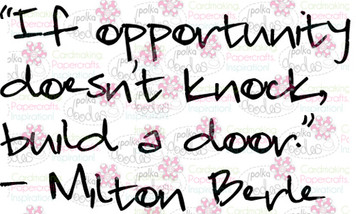 Opportunity knocks sentiment downloadable digital stamp