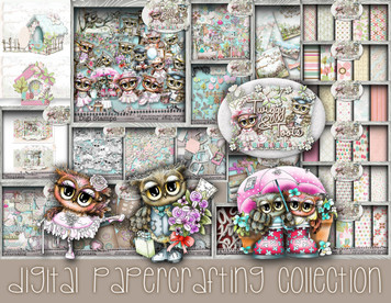 Twiggy and Toots Download Digital Papercrafting Collection