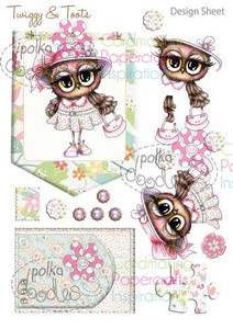 Twiggy & Toots Digital Craft Download - Design Sheet