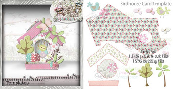 Birdhouse 1 Card template SVG Cutting file - Digital Craft Download
