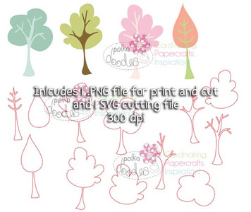 Trees/Leaves SVG Cutting file - Digital Craft Download