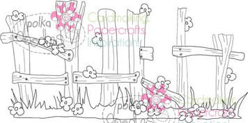Fence Digital Stamp Craft Download