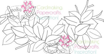 Birds Nest, Leaves Digital Stamp Craft Download
