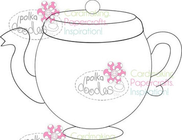 Tepot, Coffee Pot Digital Stamp Craft Download