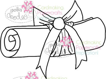Graduation Scroll Digital Stamp Craft Download