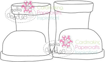 Boots, Wellies, Wellingtons, Digital Stamp Craft Download