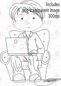 PC/Laptop/Technology guy - Digital Stamp Download