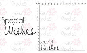 Rubber Stamp - Special Wishes